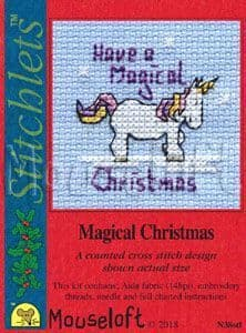 Mouseloft Magical Christmas Card Christmas Stitchlets cross stitch kit